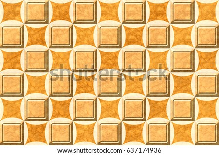 Abstract Home Decorative Wooden Square Type Stock Illustration ...