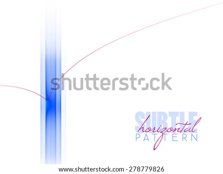 Abstract horizontal pattern with blue stripe and thin red curved line. Clean design. Raster graphic template - stock photo