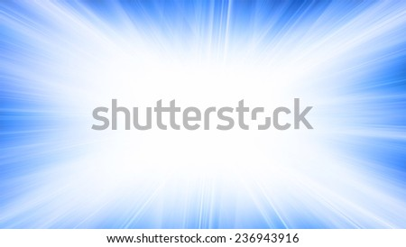 Abstract horizontal pattern with brightly blue explosion. Raster
