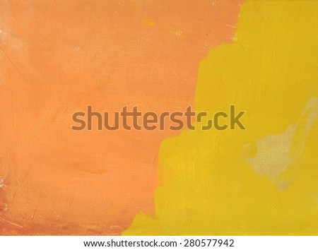 abstract horizontal yellow-red background canvas oil painting