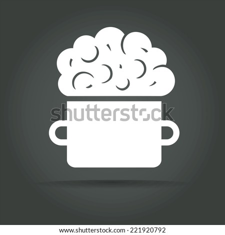 Abstract icon isolated on background for logotype concept - stock photo