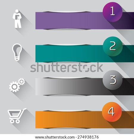 Abstract illustrated Infographic  - stock photo