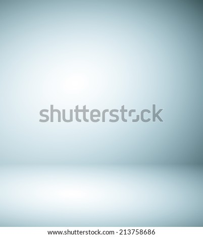 Abstract illustration background texture of beauty dark and light blue, gray, white gradient flat wall and floor in empty spacious room interior