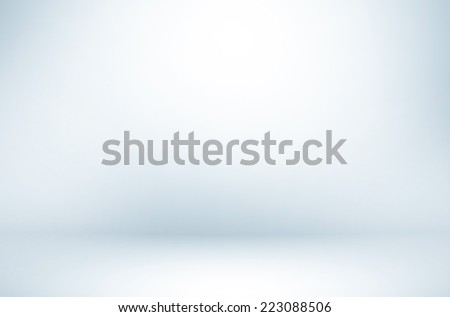 Abstract illustration background texture of beauty dark and light clear blue, cold gray, snowy white gradient flat wall and floor in empty spacious room interior - stock photo