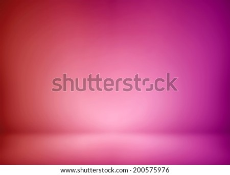 Abstract illustration background texture of beauty dark and light violet, lilac, purple, magenta, crimson, scarlet, red gradient wall and flat floor in empty spacious room interior - stock photo