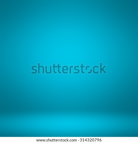 Abstract illustration background texture of dark and light clear blue, azure, cyan and turquoise gradient flat wall and floor in empty spacious room interior - stock photo