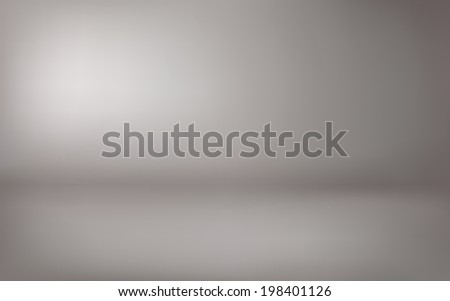 abstract illustration background texture of gray gradient wall, flat floor in empty room.  - stock photo