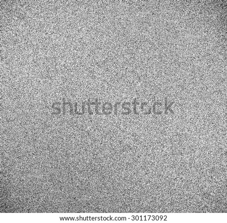Abstract illustration background texture with seamless pattern of television grainy noise effect. TV screen no signal. Horizontal template rectangle, black and white perspective view. - stock photo