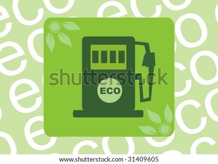 abstract illustration. Biofuel (raster version) - stock photo