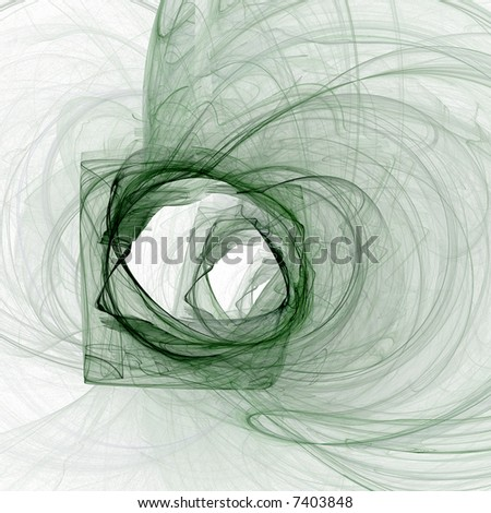 Abstract illustration. Color: green on white background - stock photo