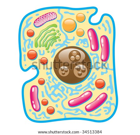 abstract illustration medical cell - stock photo
