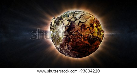 Abstract Illustration of Armageddon - Planet Earth Disaster (Image 2 from 3 to view pictures from this series, please visit my portfolio) - stock photo