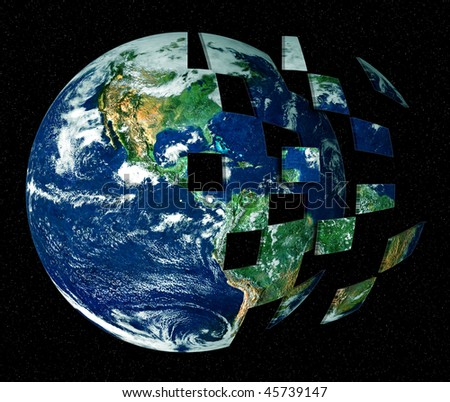 abstract illustration of background with stylized earth globe