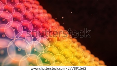 Abstract illustration of cells in mitosis and multiplication of cells for beauty and biology concept - stock photo