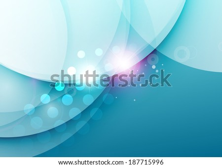 Abstract illustration of elegant color waves design with light flares