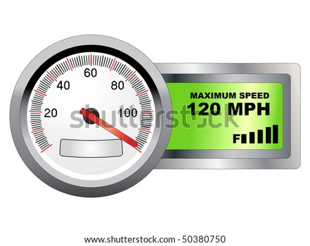 Abstract  illustration of maximum speed meter closeup