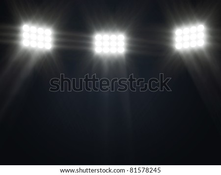 Abstract Illustration of Stage Spotlight with rays - stock photo