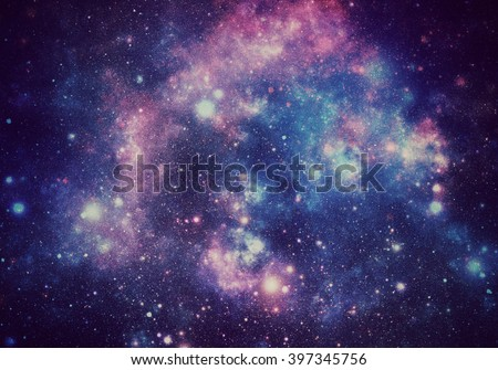 Abstract illustration of universe - stock photo