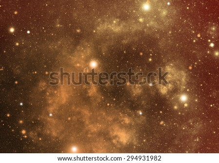 Abstract illustration of universe bodies - stock photo