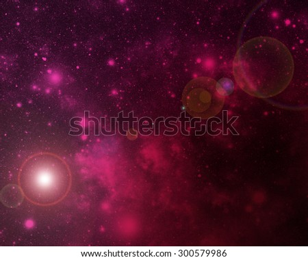 Abstract illustration of universe bodies. - stock photo