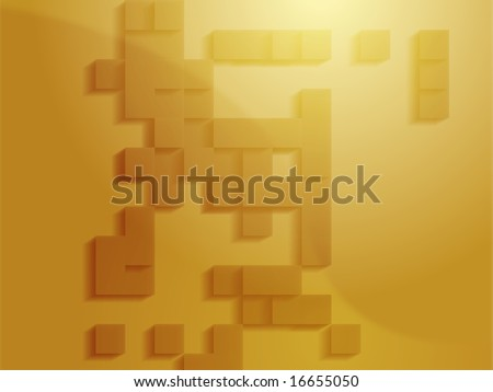Abstract illustration wallpaper of geometric shape blocks - stock photo