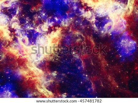 Abstract illustration with beautiful space nebula
