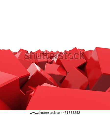 Abstract illustration with Glossy Cube - stock photo