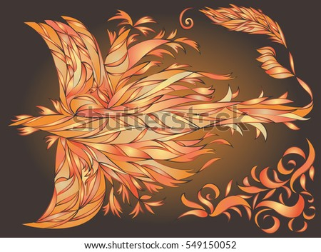 Abstract image of a firebird