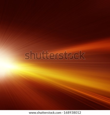 Abstract image of car lights on night road.