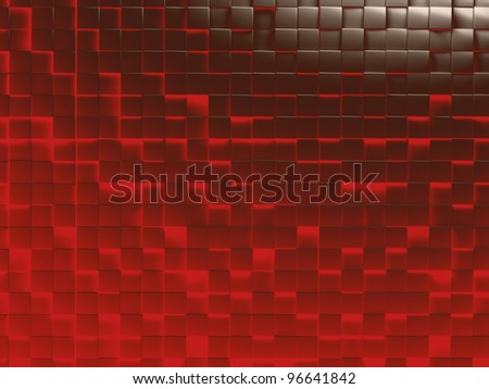 abstract image of cubes background in red and brown toned - stock photo