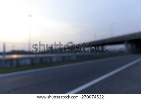 Abstract image of hi-way - stock photo