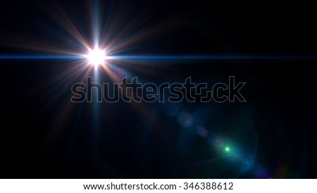 abstract image of lens flare representing the camera flash with special effect - stock photo
