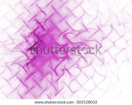 Abstract image of purple texture , metal mesh , waves on white background - stock photo