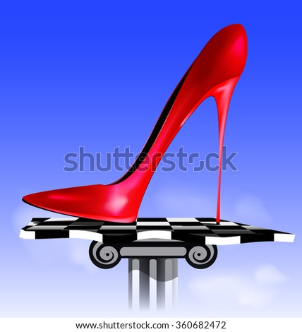 abstract image of red shoe - stock photo