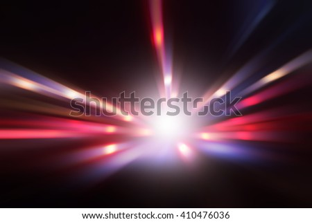 Abstract image of speed motion at dark. - stock photo