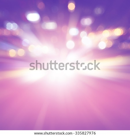 Abstract image of speed motion on the road at night. - stock photo
