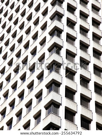 Abstract image of white building - stock photo