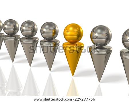 Abstract image representing the appropriate person. - stock photo