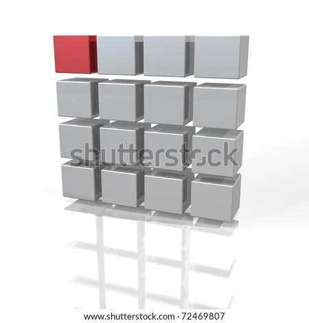 Abstract image that represents the first choice. - stock photo