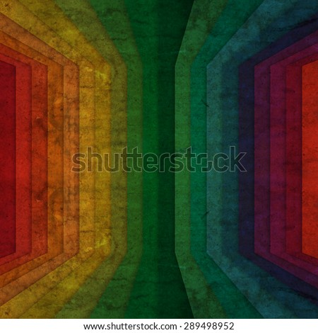 abstract in rainbow perspective grunge background - stock photo
