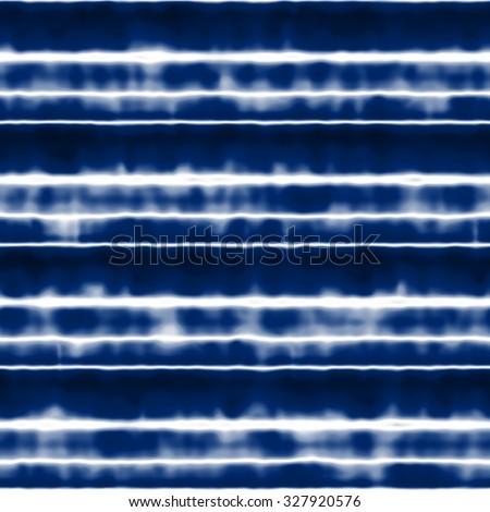 Abstract  indigo shibori storm striped space dye. Seamless pattern. - stock photo