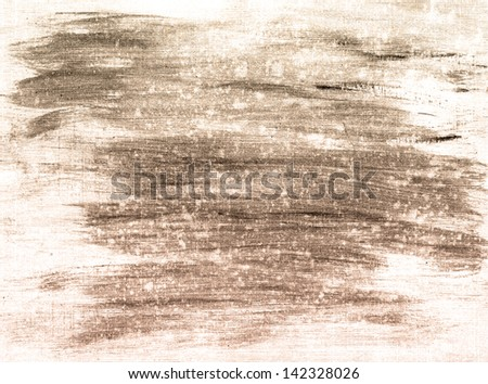 Abstract ink painting on grunge paper texture - stock photo