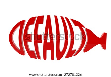"""abstract inscription """"default"""" in the form of fish - stock photo"""