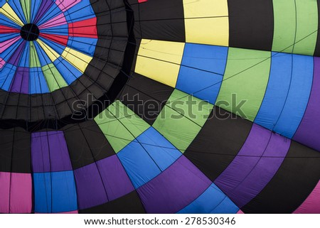 Abstract inside hot air balloon  - stock photo
