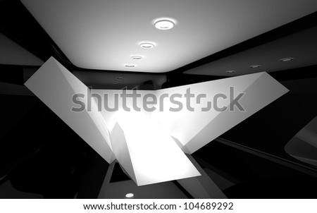 Abstract interior - stock photo