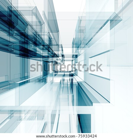 Abstract interior. Abstract architecture background - stock photo