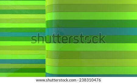 abstract interior background with horizontal green plastic panels - stock photo