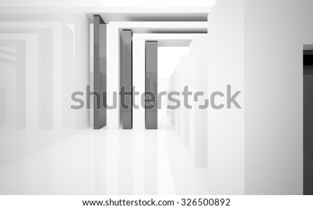 abstract interior. 3D illustration. 3D rendering