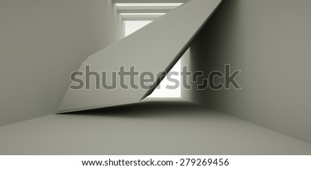 Abstract interior, 3d render - stock photo