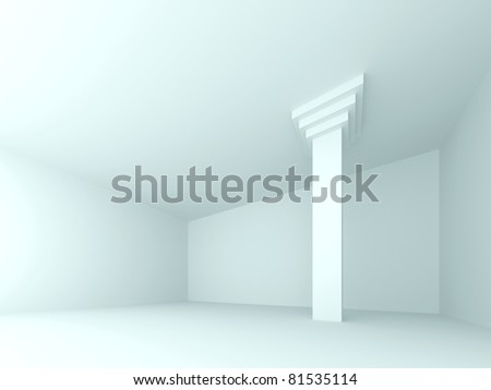 Abstract interior. 3d rendered image